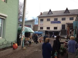 Kosow (Kosiv) shopping district.