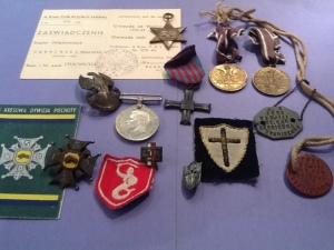 Metals earned by both my mother and father during the Italian Campaign.